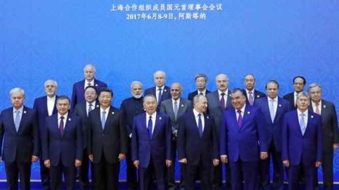 Hội nghị thượng đỉnh SCO ở Astana, Kazakhstan từ ngày 8 - 9/6/2017. Ảnh: India TV