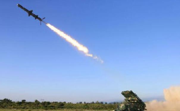 Gần đây, Triều Tiên phóng thành công tên lửa hành trình đất đối hạm mới. Ảnh: Cankao