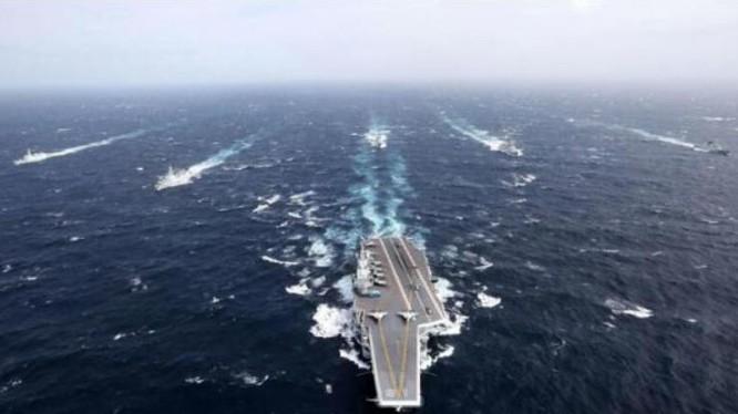 Biên đội tàu sân bay Liêu Ninh, Hải quân Trung Quốc. Ảnh: Cankao