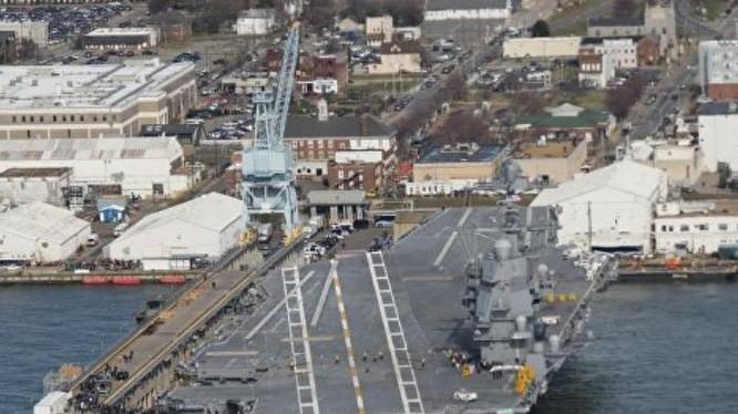 Tàu sân bay động cơ hạt nhân thế hệ mới USS Gerald Ford Mỹ. Ảnh: Sputnik