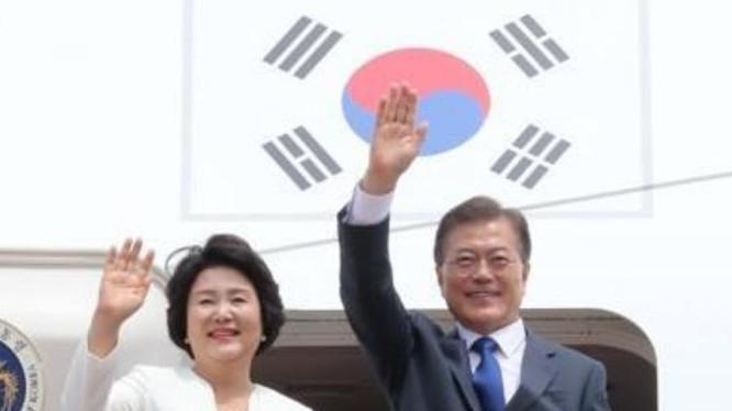 Từ ngày 28/6 đến ngày 2/7, Tổng thống Hàn Quốc tiến hành thăm chính thức Mỹ. Ảnh: QQ