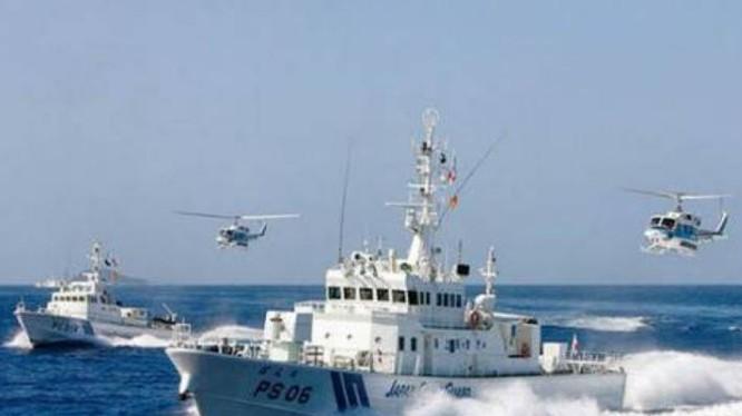 Tàu tuần tra Lực lượng bảo vệ bờ biển Nhật Bản. Ảnh: Military.china.com