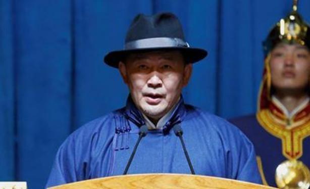 Khaltmaa Battulga, Tân Tổng thống Mông Cổ. Ảnh: Chinanews