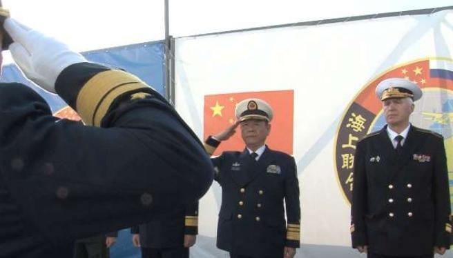 """Hải quân Trung Quốc và Nga tiến hành cuộc tập trận chung """"Liên hợp trên biển-2017"""". Ảnh: Ifeng."""