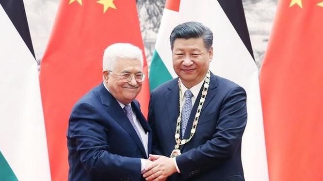 Ngày 18/7/2017, Chủ tịch Trung Quốc Tập Cận Bình tiếp Tổng thống Palestine Mahmoud Abbas. Ảnh: Tân Hoa xã.