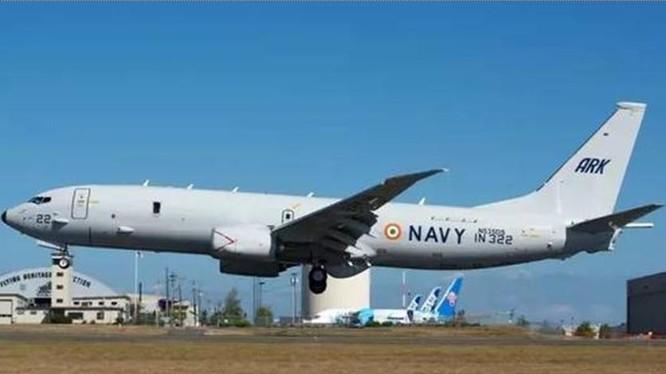Máy bay tuần tra săn ngầm P-8I Poseidon của hải quân Ấn Độ. Ảnh: Sina