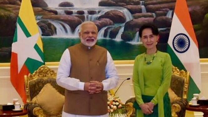 Thủ tướng Ấn Độ Narendra Modi thăm Myanmar. Ảnh: Eastday.