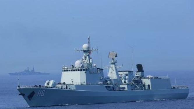 Tàu khu trục Thạch Gia Trang, Hải quân Trung Quốc. Ảnh: Cankao.