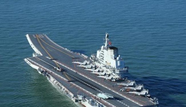 Tàu sân bay Liêu Ninh của Hải quân Trung Quốc được cải tạo từ tàu Varyag của Ukraine. Ảnh: Ifeng.