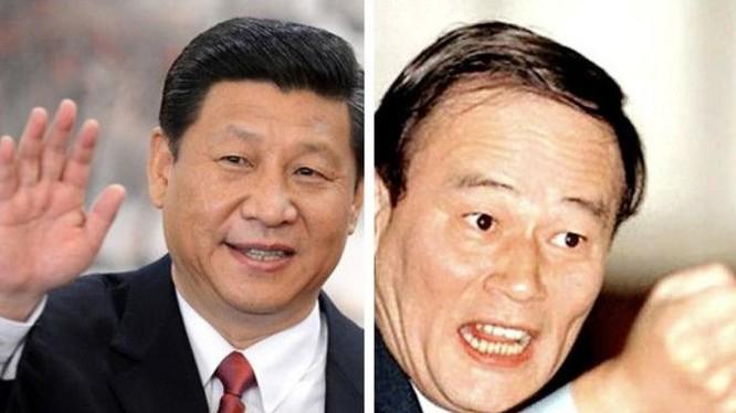 Chủ tịch Trung Quốc Tập Cận Bình và Bí thư Ủy ban Kiểm tra kỷ luật Trung ương Đảng Cộng sản Trung Quốc Vương Kỳ Sơn.