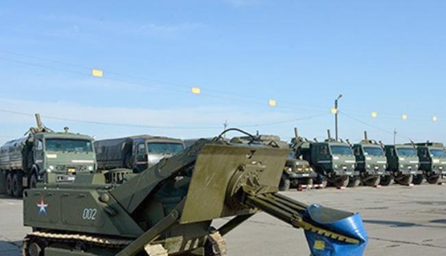 Xe chiến đấu không người lái Uran-6 Nga.