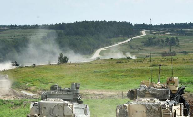 Lục quân Mỹ tiến hành huấn luyện ở Đức. Ảnh: Cankao.