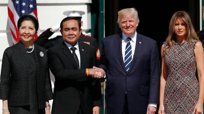 Thủ tướng Thái Lan Prayuth Chan-ocha thăm Mỹ. Ảnh: Khaosod English.