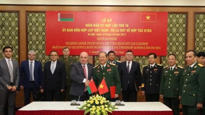 Kỳ họp lần thứ 16 của Ủy ban hỗn hợp liên chính phủ Việt Nam - Belarus về hợp tác kỹ thuật quân sự.