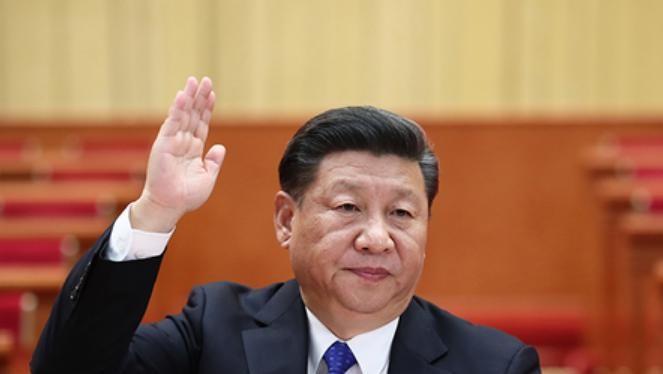 Tổng bí thư Tập Cận Bình tại Đại hội XIX của Đảng Cộng sản Trung Quốc. Ảnh: Sina.
