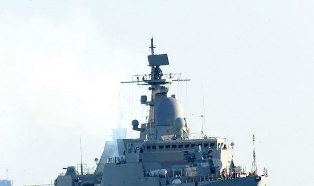 Tàu hộ vệ tên lửa lớp Gepard 3.9 do Nga chế tạo. Ảnh: Sohu.