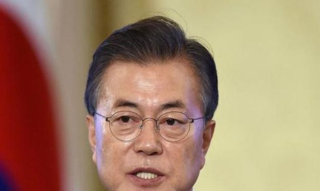 Tổng thống Hàn Quốc Moon Jae-in. Ảnh: The National.