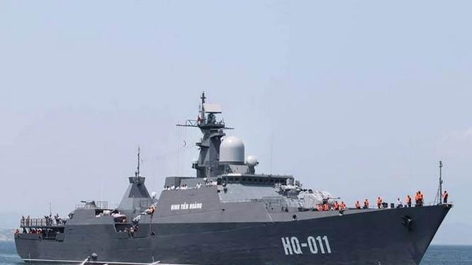 Tàu hộ vệ HQ-011 Đinh Tiên Hoàng lớp Gepard của Hải quân Việt Nam, mua của Nga. Ảnh: Kaixian.