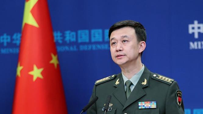 Người phát ngôn Bộ Quốc phòng Trung Quốc Ngô Khiêm. Ảnh: Chinanews.