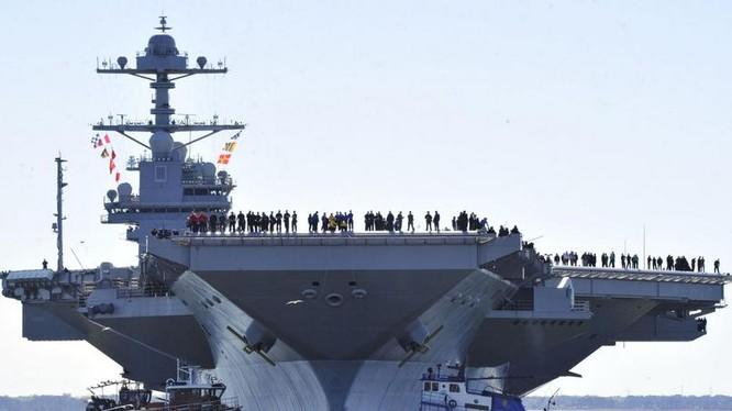 Tàu sân bay động cơ hạt nhân thế hệ mới USS Gerald Ford Mỹ.