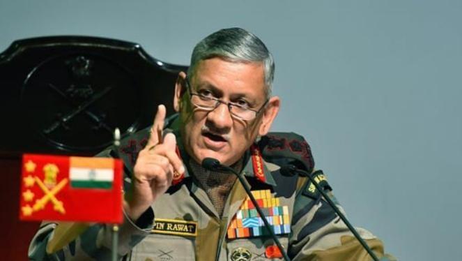 Tham mưu trưởng Lục quân Ấn Độ Bipin Rawat. Ảnh: NDTV.