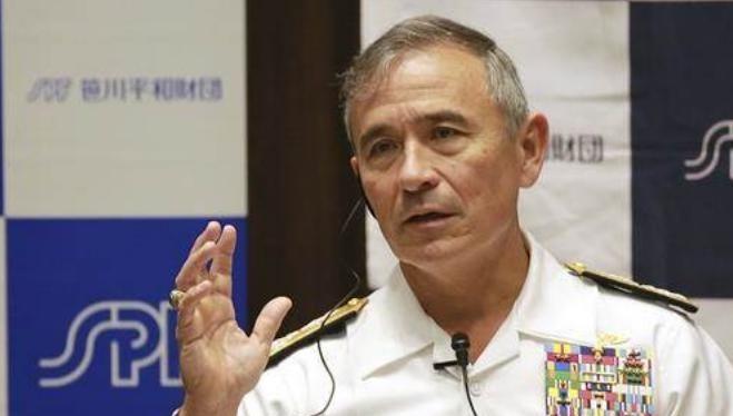 Đô đốc Harry Harris, Tư lệnh Bộ Tư lệnh Thái Bình Dương Mỹ. Ảnh: AP.