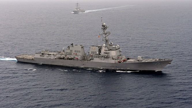 Chiến hạm Mỹ đã nhiều lần tuần tra ở Biển Đông khiến Trung Quốc tức giận