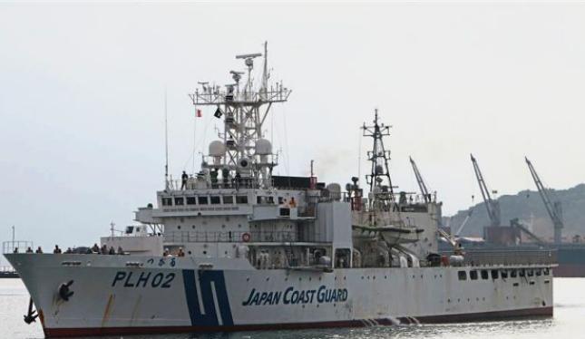 Tàu tuần tra của Lực lượng bảo vệ bờ biển Nhật Bản. Ảnh: The Star.