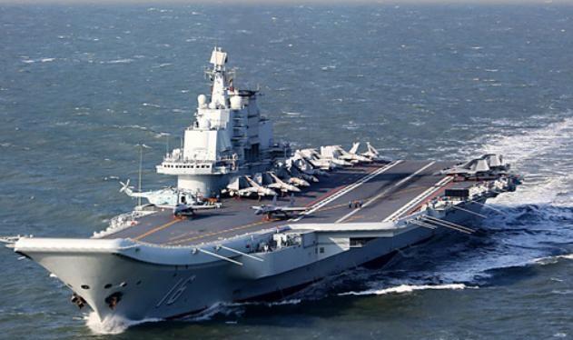 Tàu sân bay Liêu Ninh, hải quân Trung Quốc. Ảnh: Sina.