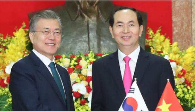 Từ ngày 22 - 24/3/2018, Tổng thống Hàn Quốc Moon Jae-in thăm Việt Nam. Ảnh: Sina.