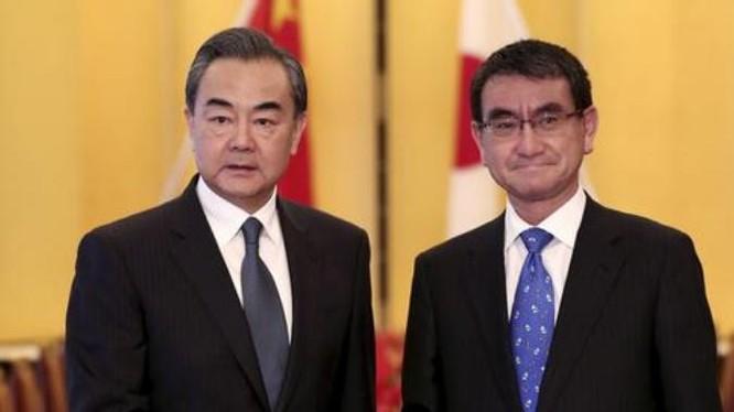 Từ ngày 15 - 17/4/2018, Ủy viên Quốc vụ kiêm Bộ trưởng Ngoại giao Trung Quốc Vương Nghị thăm Nhật Bản. Ảnh: DW.