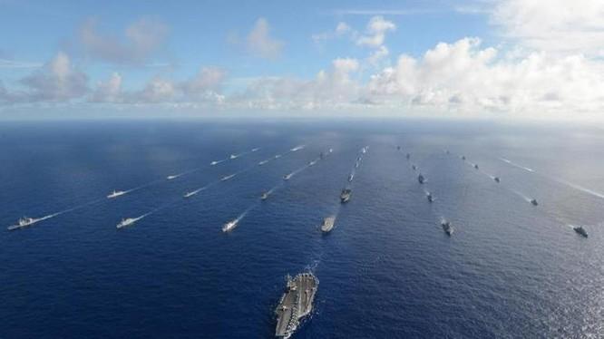Cuộc tập trận Vành đai Thái Bình Dương-2016. Ảnh: Naval Today.