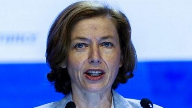Ngày 3/6/2018, Bộ trưởng Quốc phòng Pháp bà Florence Parly phát biểu tại Đối thoại Shangri-La 2018. Ảnh: AFP.