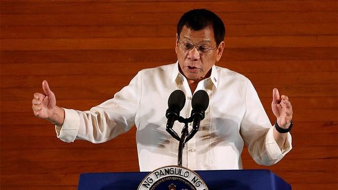 Tổng thống Philippines Rodrigo Duterte. Ảnh: Sohu.