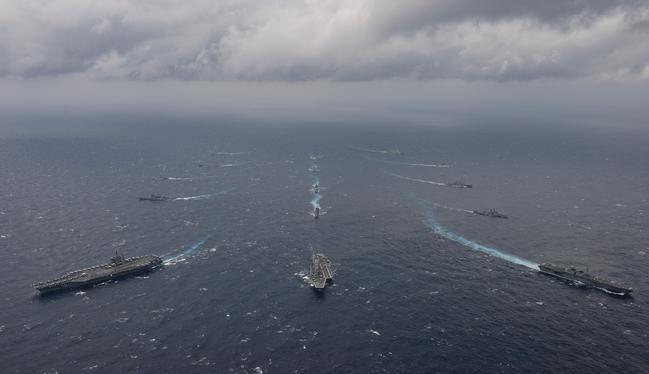 Cuộc tập trận Malabar - 2017 ở vịnh Bengal. Ảnh: U.S. Navy.
