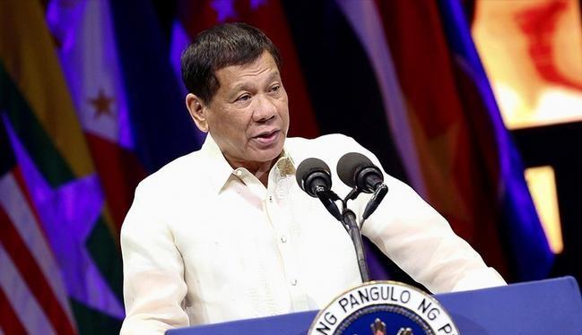 Tổng thống Philippines Rodrigo Duterte phát biểu tại Lễ kỷ niện tròn 120 năm ngày thành lập Bộ Ngoại giao Philippines. Ảnh: Twitter.