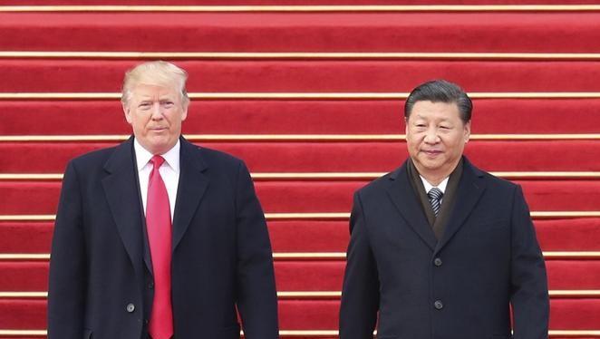 Tổng thống Mỹ Donald Trump và Chủ tịch Trung Quốc Tập Cận Bình. Ảnh: Dwnews.