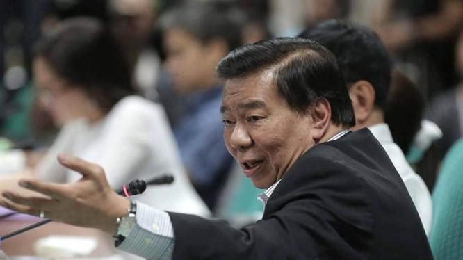 Lãnh đạo phe thiểu số Thượng viện Philippines Franklin Drilon. Ảnh: Philstar.
