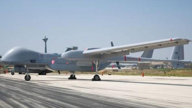 Máy bay tác chiến không người lái Heron TP của Israel. Ảnh: Cankao.