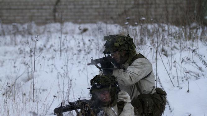 Binh sĩ Estonia tập luyện