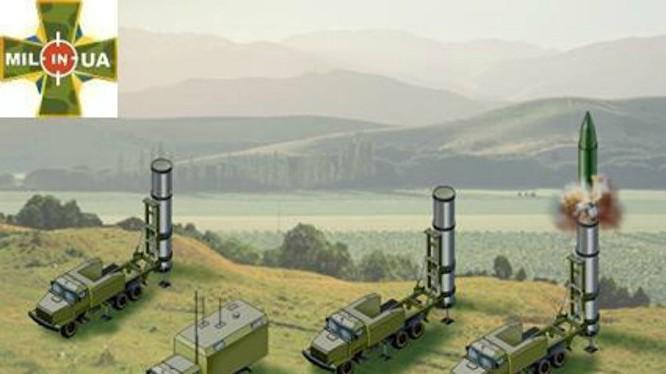 Mô hình hệ thống tên lửa Grom của Ukraine