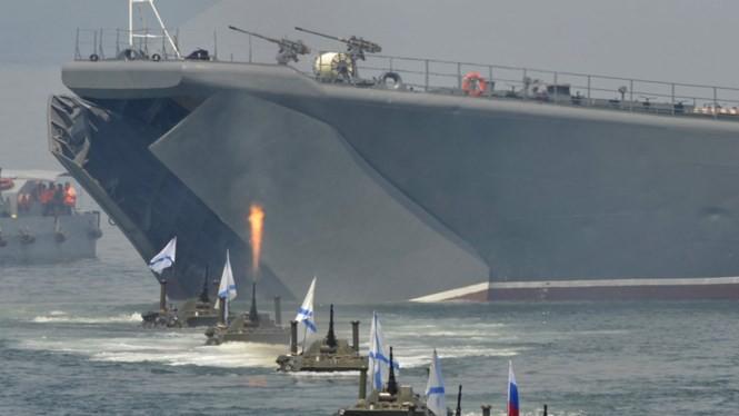 Hải quân Nga tập trận đổ bộ trên biển