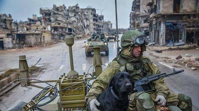 Công binh Nga tháo gỡ bom mìn tại Aleppo sau khi thành phố này hoàn toàn giải phóng