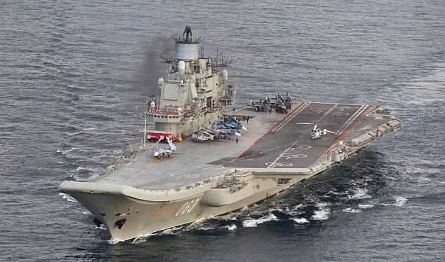 Nga sẽ rút cụm tác chiến tàu sân bay Đô đốc Kunetsov về nước