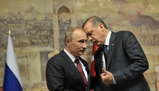 Tổng thống Nga Putin và người đồng nhiệm Thổ Nhĩ Kỳ Erdogan