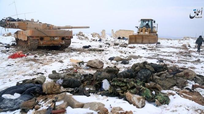 Xe tăng Leopard của quân đội Thổ Nhĩ Kỳ bị phiến quân IS chiếm giữ