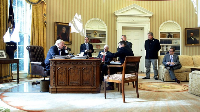 Ông Trump đã có cuộc điện đàm với tổng thống Nga Putin