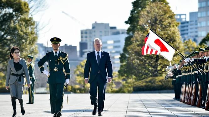 Ông Mattis vừa có chuyến thăm Nhật Bản