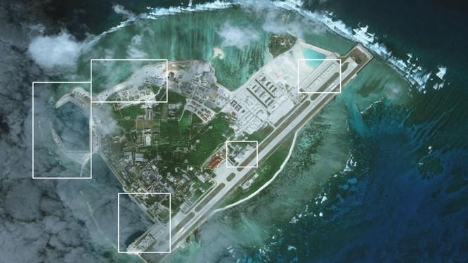 Ảnh vệ tinh chụp đảo Phú Lâm thuộc quần đảo Hoàng Sa ngày 28/1/2017 của CSIS