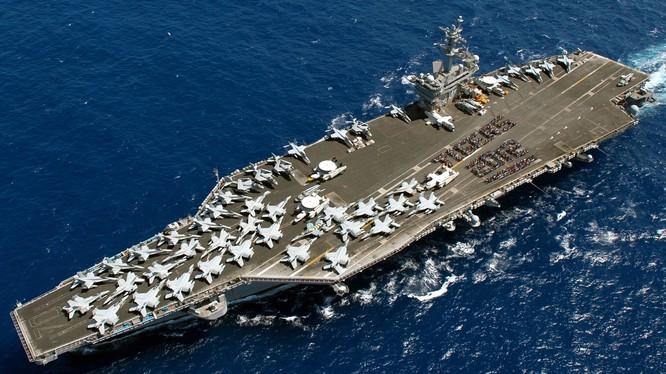 Tàu sân bay Carl Vinson của hải quân Mỹ vừa tuần tra ở Biển Đông